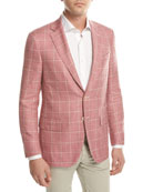 Windowpane Check Two-Button Sport Coat