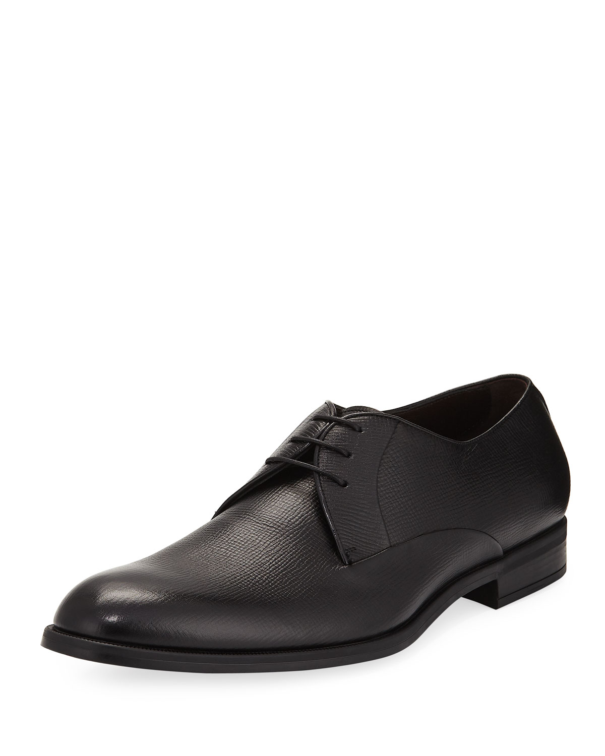 Saffiano Leather Derby Shoe