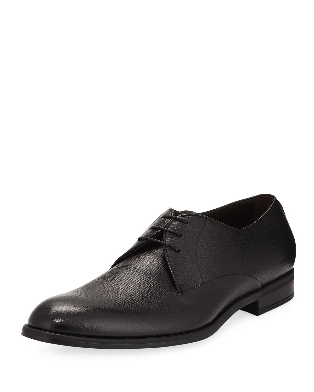 Saffiano Leather Derby Shoe