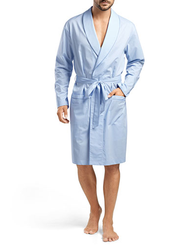 Ryan Chambray Woven Robe, Blue