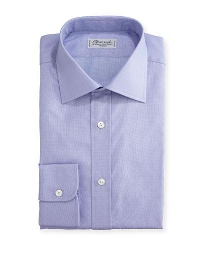 Small Check Dress Shirt, Lavender
