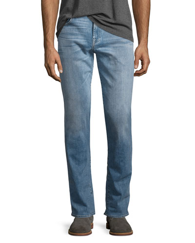 Luxe Performance: Straight-Leg Jeans, Light Blue