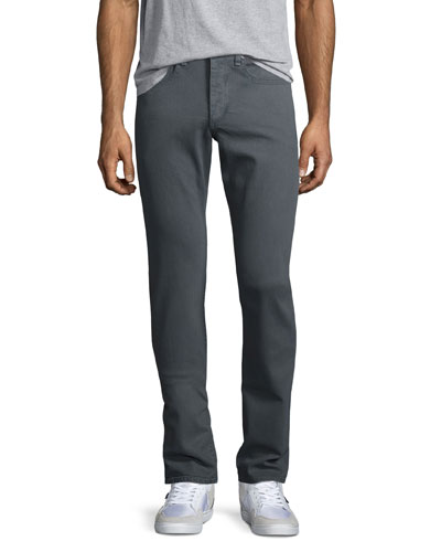 Standard Issue Fit 2 Mid-Rise Relaxed Slim-Fit Jeans, Coated Gray