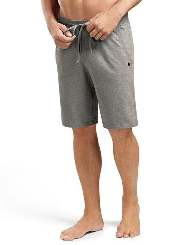 Luis Drawstring Sweat Shorts, Light Gray