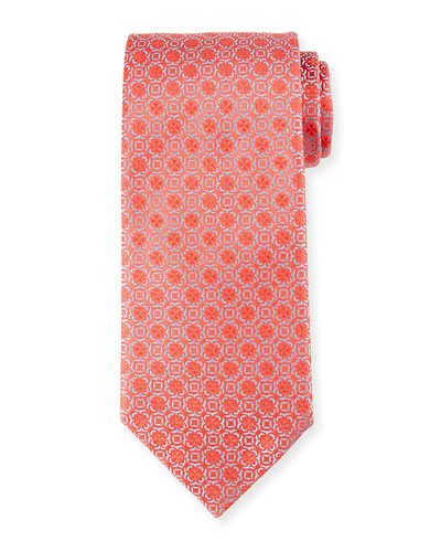 Floral Neat Silk Tie