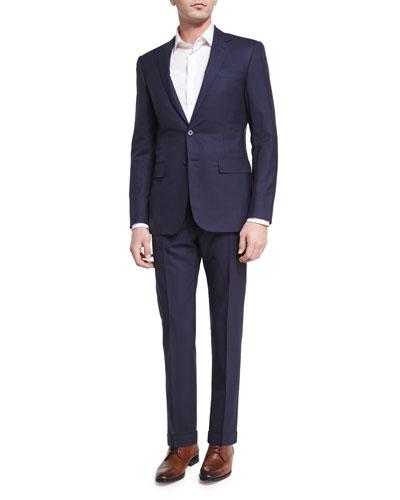 Tonal Windowpane Two-Piece Suit, Navy
