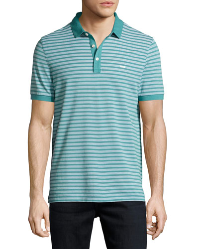 Birdseye Knit Polo Shirt, Blue