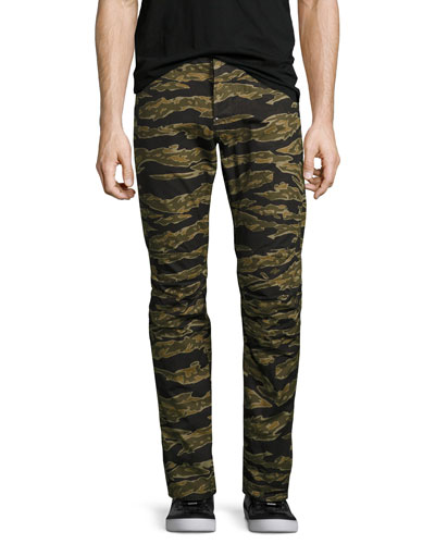 Tiger Camouflage Skinny Pants, Green