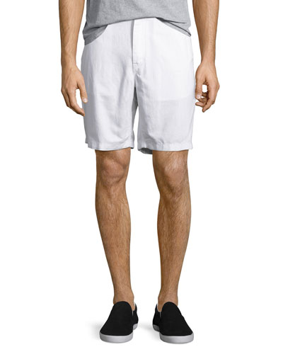 Tailored Cotton Chino Shorts, White