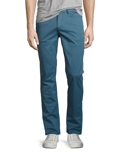 Slim Five-Pocket Pants, Blue