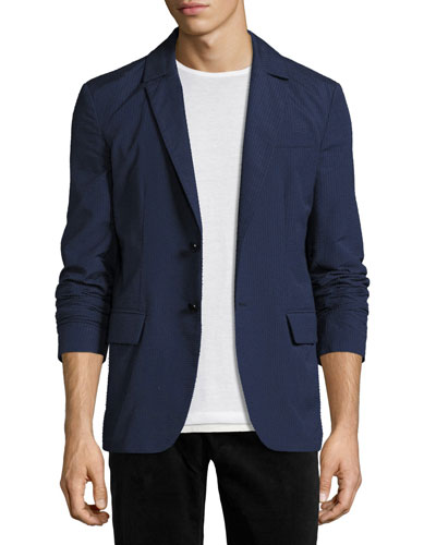 R by Robert Graham Frenchie Two-Button Blazer, Navy