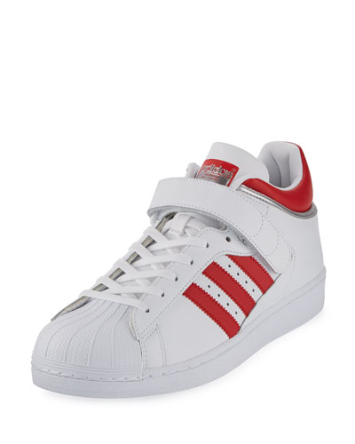 Men's Pro Shell Low-Top Sneaker, White/Red