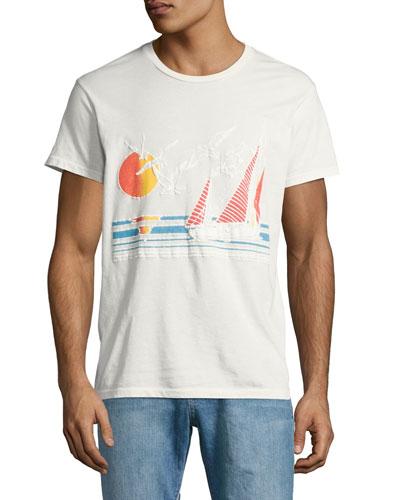 Sol Vela Sailboat T-Shirt, White
