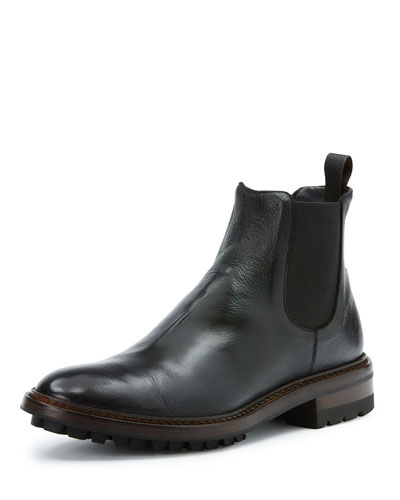 Men's Greyson Leather Chelsea Boot, Black