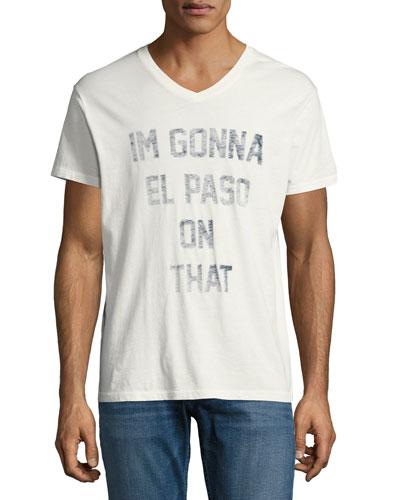 El Paso V-Neck T-Shirt, White