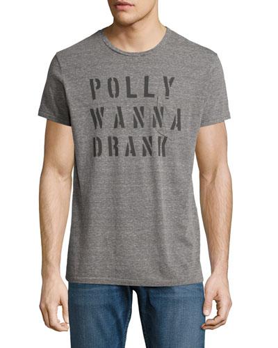 Polly Wanna Drank T-Shirt, Light Gray