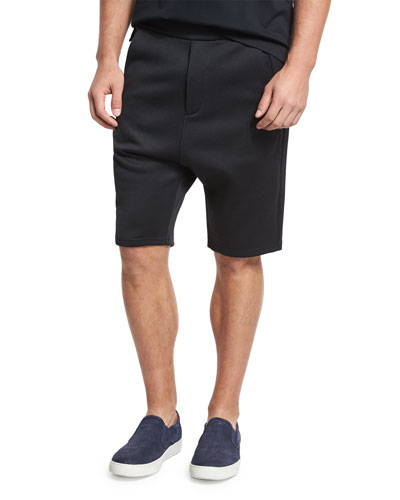 Drop-Rise Shorts, Black
