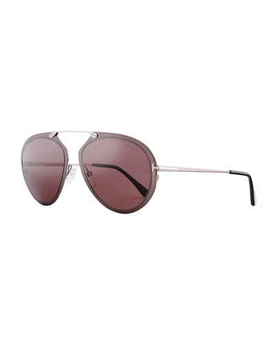Dashel Aviator Sunglasses, Gunmetal