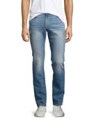 L'Homme Distressed Skinny Jeans, Barkley