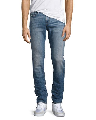 L'Homme Straight-Leg Jeans, Blue