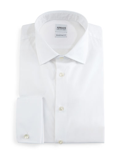 Modern-Fit Dress Shirt, White
