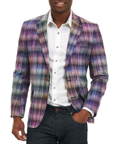 Sunderbans Plaid Two-Button Sport Coat, Multicolor