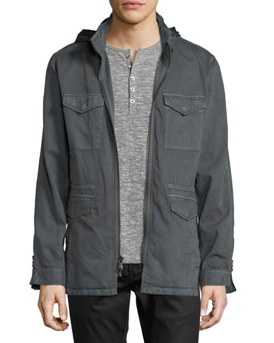 Zip Front Mid Length Jacket