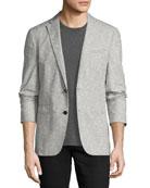 Thompson Paisley Jacquard Sport Coat, Gray