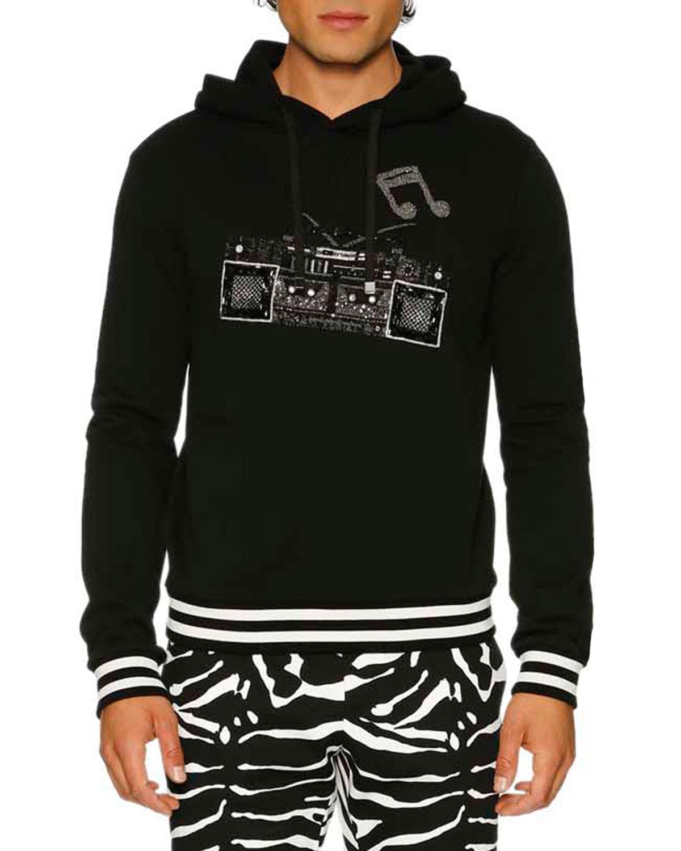 Boombox Pullover Hoodie, Black