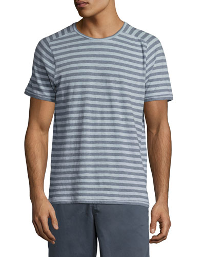 Striped Short-Sleeve T-Shirt, Blue