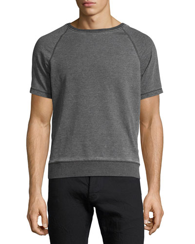 Burnout French Terry Raglan T-Shirt, Gray