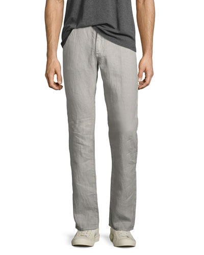 Authentic Linen Jeans, Gray