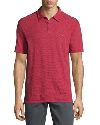 Reverse-Print Jersey Polo Shirt, Dark Red