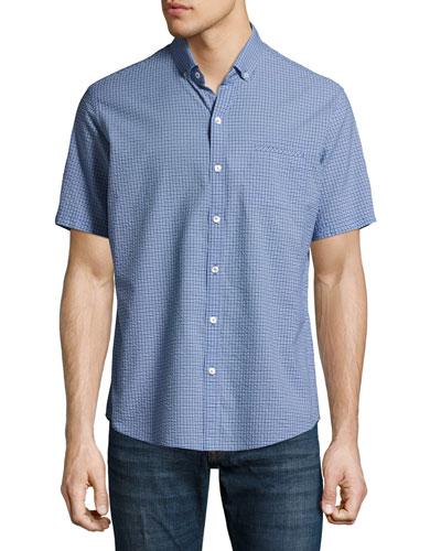 Billy Check Seersucker Short-Sleeve Sport Shirt