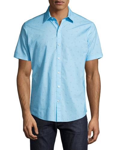 Weinman Golf Club Short-Sleeve Sport Shirt, Turquoise
