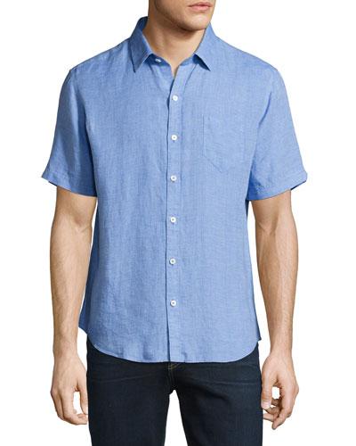 Kaplan Linen Short-Sleeve Sport Shirt