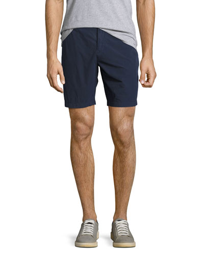 Tailored Cotton Chino Shorts, Indigo