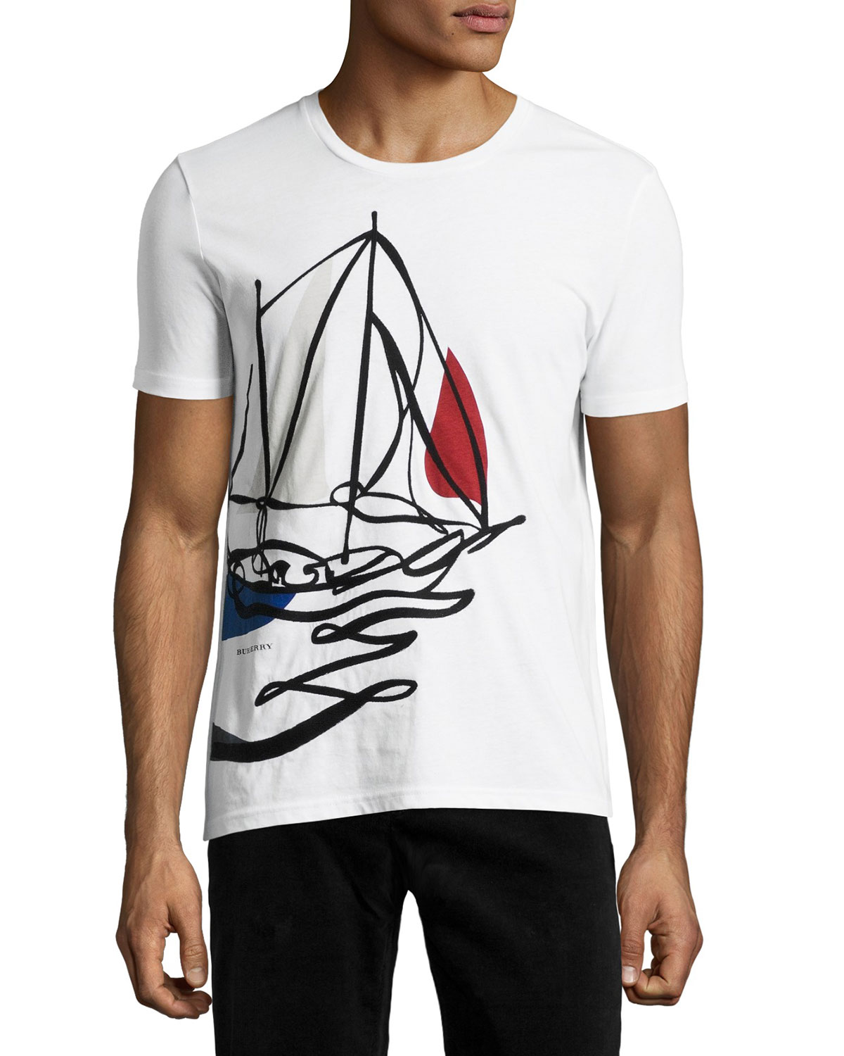 Embroidered Sailing T-Shirt, White