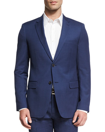 Wellar Camley Slim Wool Suit Jacket, Blue