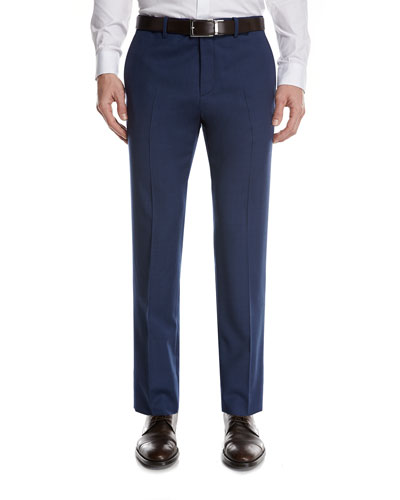 Marlo O Heiron Wool Suit Pants, Blue