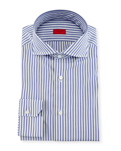 Bengal Stripe Dress Shirt, Navy/White