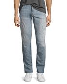 Tyler Distressed Slim-Fit Jeans, Hawking
