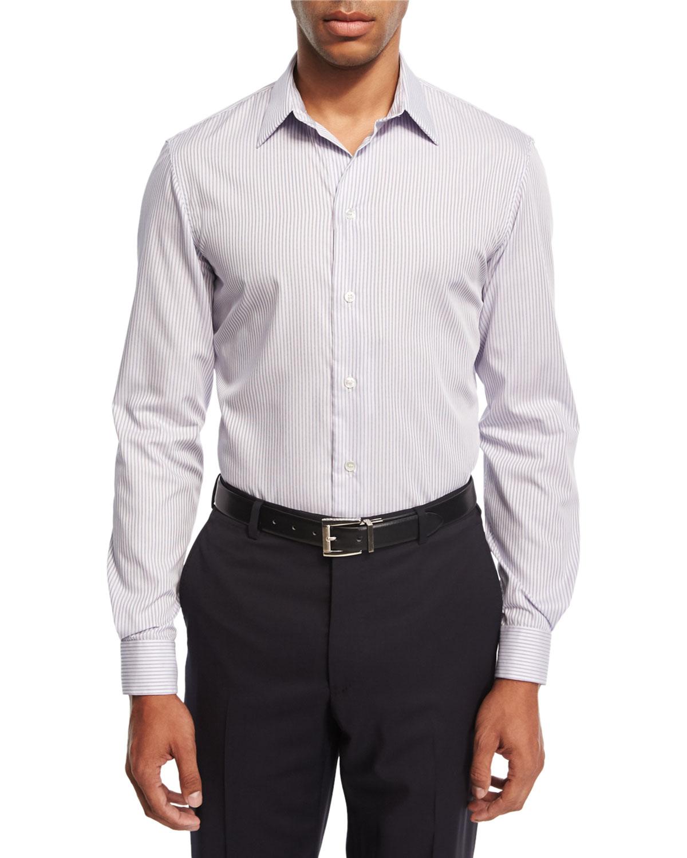Striped Dress Shirt, Purple