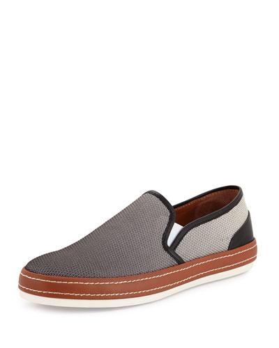 Men's Gavino Dégradé Mesh Slip-On Sneaker, Gray