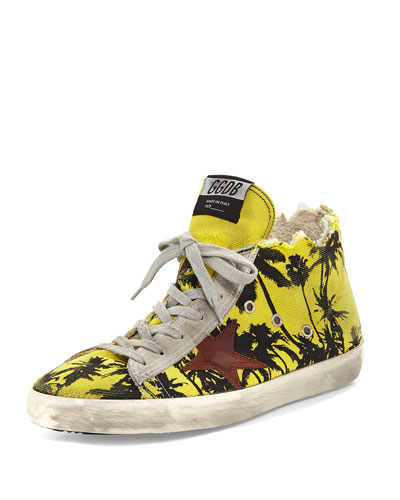 Men's Francy Men's Palm-Print High-Top Sneaker