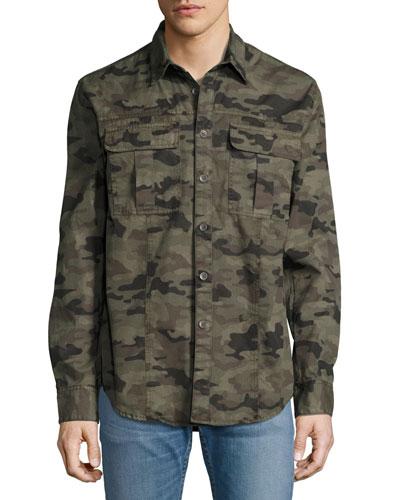 Infantry Camo Utility Shirt, Green