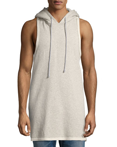 Sleeveless Pullover Hoodie, Gray