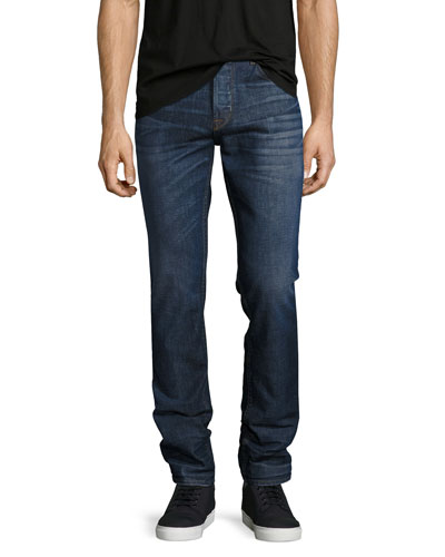 Sartor Slouchy-Skinny Jeans, Blue