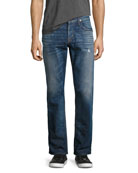 Byron Classic Straight-Leg Jeans, Blue