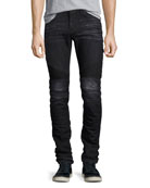 Men's Blinder Biker Skinny Jeans, Faded Black